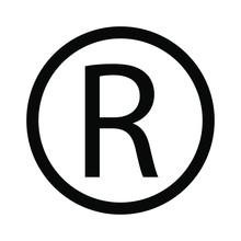 R Symbol Copyright Sign Vector...
