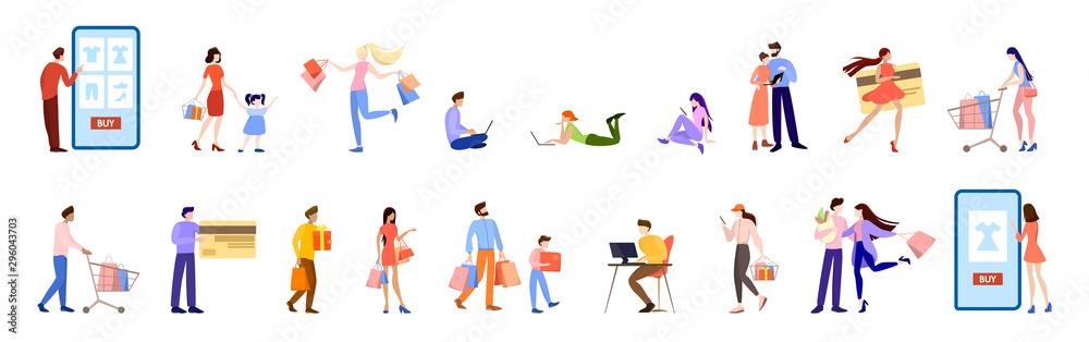 Fototapeta Online shopping concept. E-commerce, customer on the sale