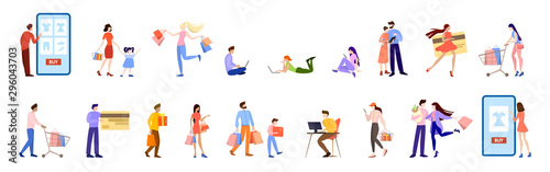 Online shopping concept. E-commerce, customer on the sale
