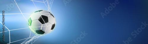 Fotografía  soccer ball in the net. 3d render
