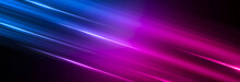 Abstract Neon Background, Blue And Pink Color, Dynamic Background With Thin Lines.