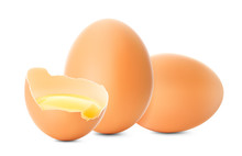 Fresh Brown Chicken Eggs. Real...