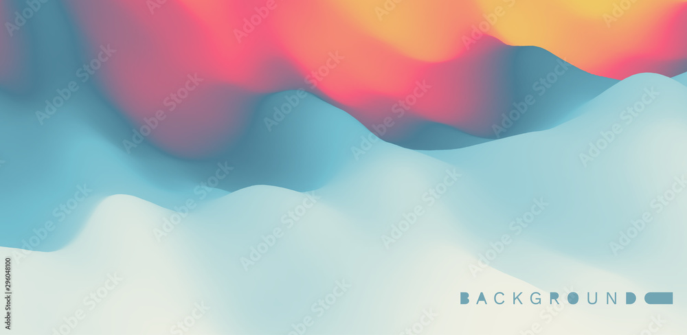 Fototapety, obrazy: Abstract background with dynamic effect. Creative design poster with vibrant gradients. Vector Illustration for advertising, marketing, presentation. Mobile screen.