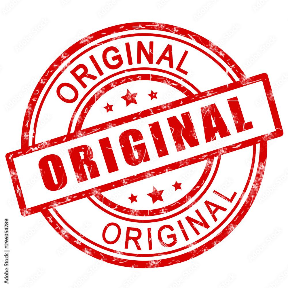 Fototapeta Original stamp. Red original stamp sign icon.