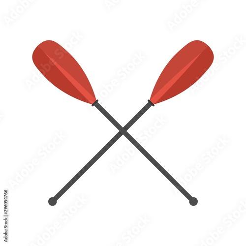 Metal crossed oars icon Fototapeta