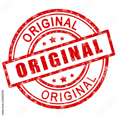 Obraz Original stamp. Red original stamp sign icon. - fototapety do salonu