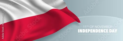 Dzień Niepodległości Polski transparent wektor, kartkę z życzeniami.