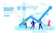 team building growth with up arrow
