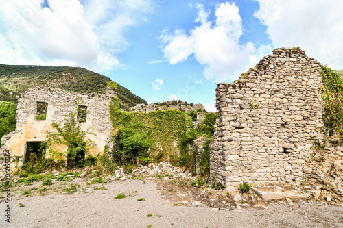 ruins of old castle, photo as a background , in janovas fiscal sobrarbe , huesca aragon province