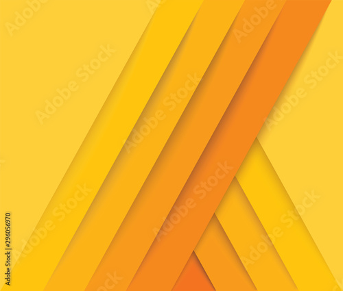 abstract modern yellow lines background vector illustration EPS10 Canvas Print