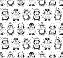 Seamless Pattern Cute Cartoon ...