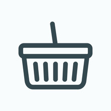 Basket Isolated Icon, Online S...