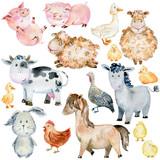 Fototapeta Fototapety na ścianę do pokoju dziecięcego - Farm Animals Set