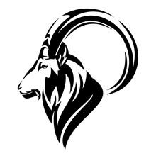 Mountain Goat Profile Head - S...