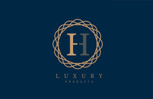 Luxury Letter H Logo Alphabet ...