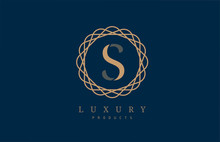 Luxury Letter S Logo Alphabet For Company Logo Icon Design