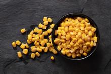 Canned Sweet Corn In A Black C...