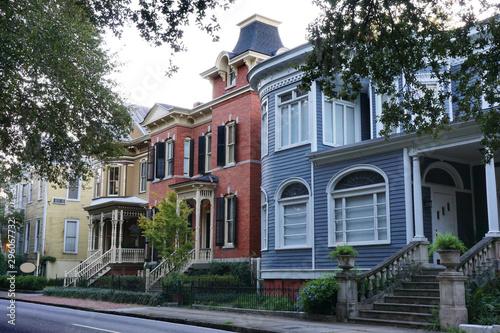 A row of colorful houses in Savannah Georgia Wallpaper Mural