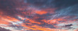 Leinwandbild Motiv Colorful cloudy sky at sunrise