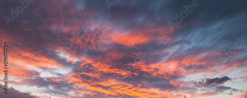 Colorful cloudy sky at sunrise
