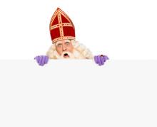 Sinterklaas Holding Blank Card...