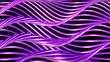 canvas print picture - Golden wave background. 3d illustration, 3d rendering.