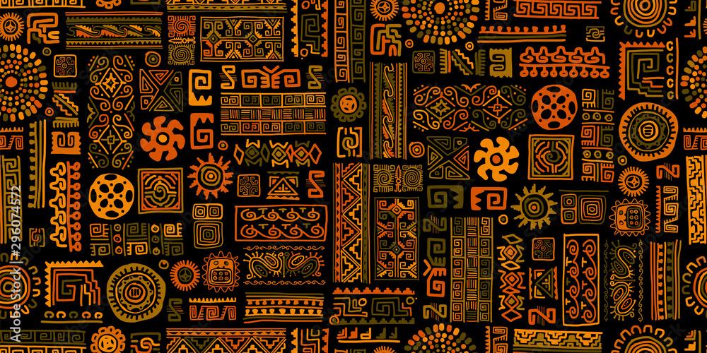 Ethnic handmade ornament, seamless pattern <span>plik: #296074572 | autor: Kudryashka</span>