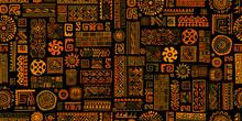 Ethnic Handmade Ornament, Seamless Pattern