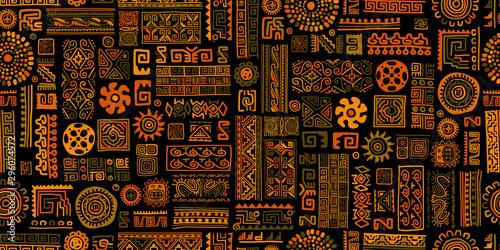 Ethnic handmade ornament, seamless pattern Fototapeta