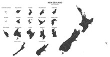 Political Map Of New Zealand I...
