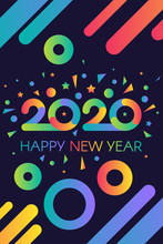 2020 Happy New Year Colorful I...