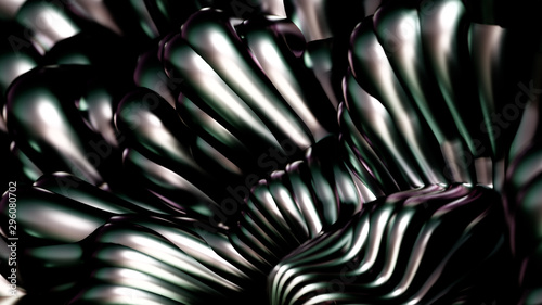 Luxury golden metal background with lines. 3d illustration, 3d rendering.