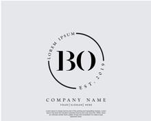 Initial Letter BO Beauty Handw...