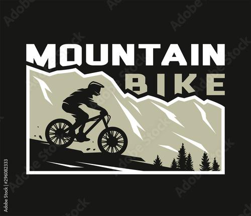 Mountain bike Fototapete
