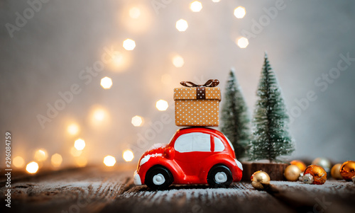 Fotomural  New year decoration and background for greetings with free space for text
