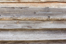 Old Wooden Background With Hor...