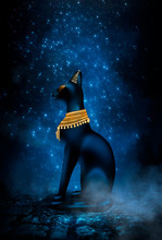 Dark Night Magic Scene. Egypti...