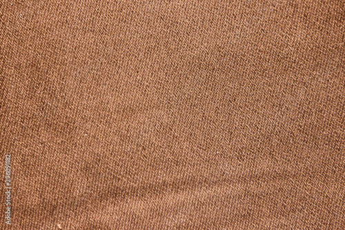Texture of a brown stretch denim fabric Canvas-taulu