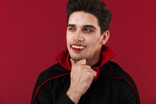 Image Of Joyful Vampire Man Wi...