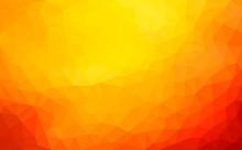 Modern Dark Orange Abstract Po...