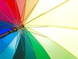 canvas print picture - abstract background with umbrellas Bright colorful rainbow umbrella background ( LGBT concept)