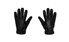 Black Leather Glove Isolate On...