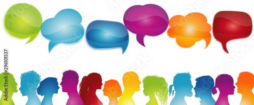 Fotografie, Obraz  Dialogue group different people