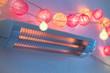 Wärme Strahler für Babies am Wickeltisch mit Lichterkette