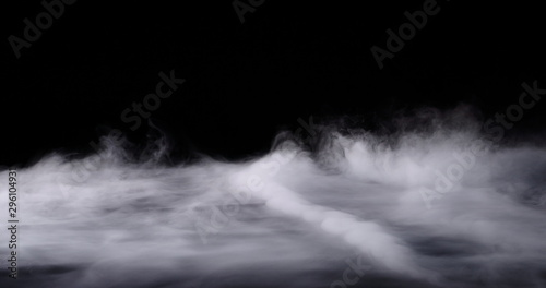 Fototapeta Realistic dry ice smoke clouds fog overlay perfect for compositing into your shots