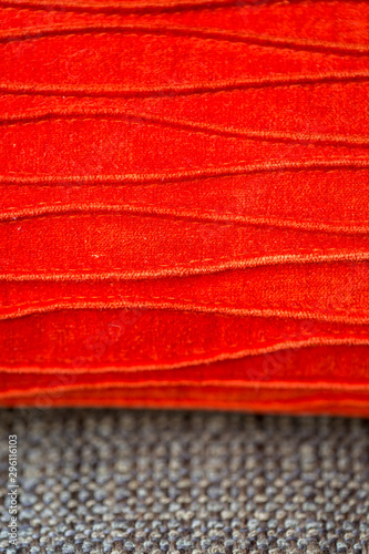 closeup of red fabric