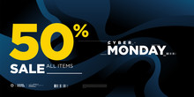 Cyber Monday Sale 50% Banner O...