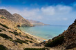 Panoramic View of Tibouda Beach, Mediterranean Moroccan Coast, Morocco