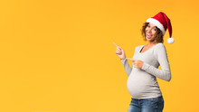 Joyful Black Pregnant Woman In...