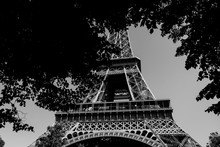 Very Cool Picture Of An Eiffel Tower In Black And White Tower